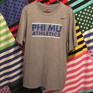 Grey Nike Phi Mu Athletics Dri-Fit T-Shirt!